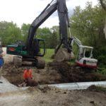 trenching pipe