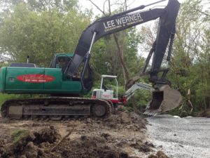 trenching pipe project