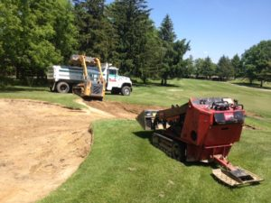 sand bunkers excavating