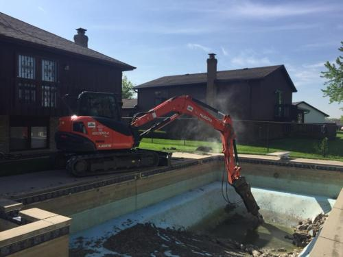 Swimming pool removal Will County IL